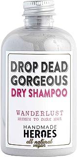 Champú seco All Natural vegano. Champú seco Drop Dead Gorgeous en polvo para el pelo oscuro, Talla estándar