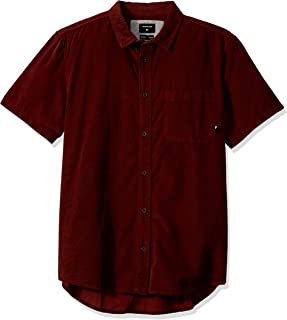 قميص رجالي Quiksilver مطبوع عليه «BOTANIC BATS» منسوج