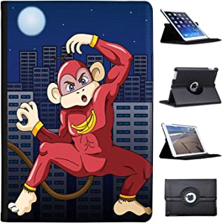 Leather Case for Apple iPad Air 2 (2nd Generation) - Super Banana Ninja Monkey