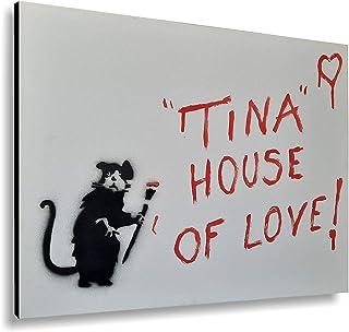 Cuadros modernos sala de estar murales estilo Banksy escritura personalizada 40x50 cm arte abstracto decoración muebles pa...