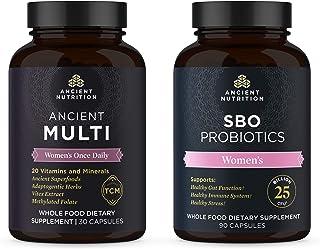 Ancient Nutrition Women's Multivitamin + Probiotics Bundle