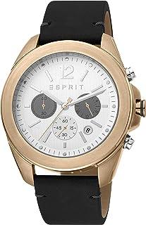 Esprit - Orologio in acciaio INOX con cinturino in pelle