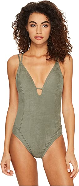 Lucky Brand - Suede with Me Strappy Mio One-Piece