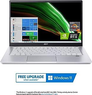 "Acer Swift X SFX14-41G-R1S6 Creator Laptop   14"" Full HD 100% sRGB   AMD Ryzen 7 5800U   NVIDIA RTX 3050Ti Laptop GPU   16..."