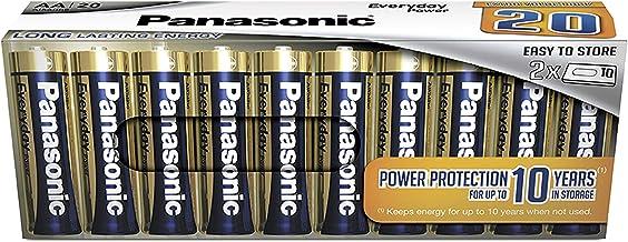 Panasonic EVERYDAY POWER Alkaline Batterie, AA Mignon LR6, 20er Pack in plastikfreier Verpackung, 1.5V, für zuverlässige E...