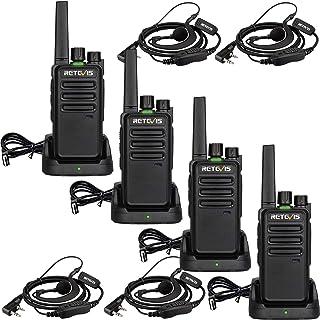 Retevis RT668 Walkie Talkie, PMR446 16 Canales Licencia Libre, Walki Talki con Auriculares, VOX Manos Libres, CTCSS/DCS, S...