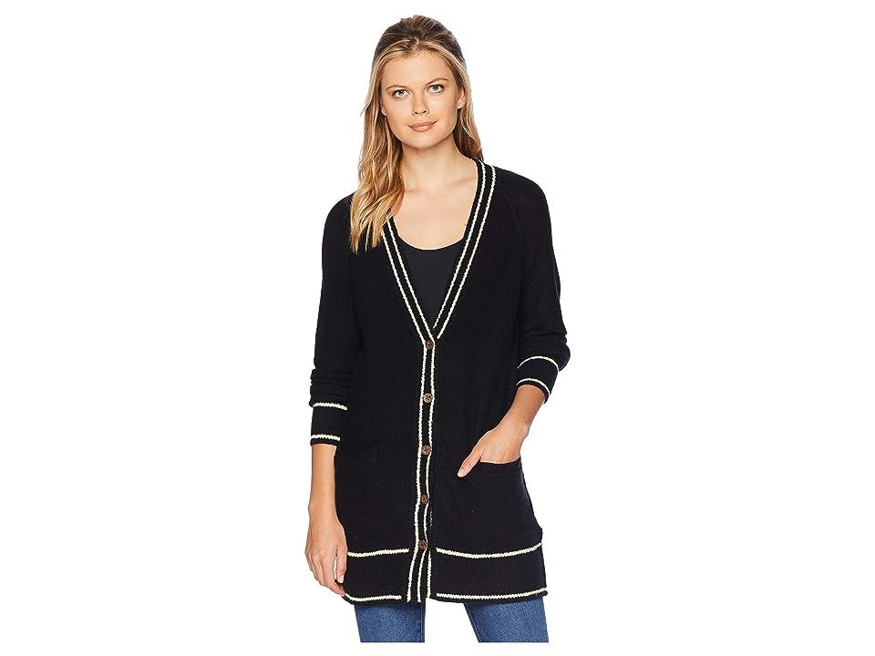 Lucky Brand Button Front Cardigan Sweater (Lucky Black) Women