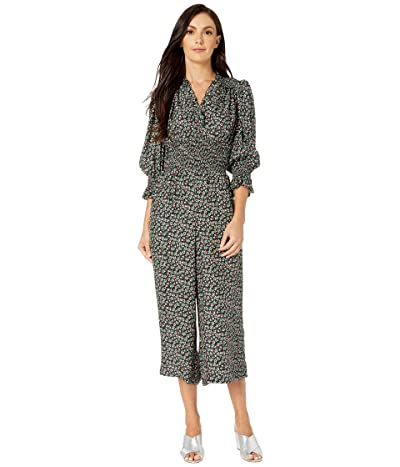 Rebecca Taylor Long Sleeve Louisa Floral Jumpsuit (Macachite Combo) Women