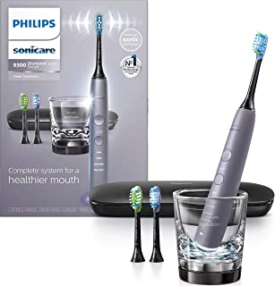 Philips Sonicare DiamondClean Smart 9300 Electric Rechargeable Power Toothbrush, For Complete Oral Care, includes 3 brush ...