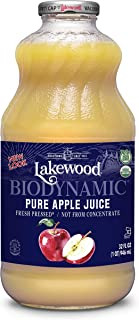 Lakewood Organic Biodynamic Juice, Pure Apple, 32 Ounce (Pack of 6)