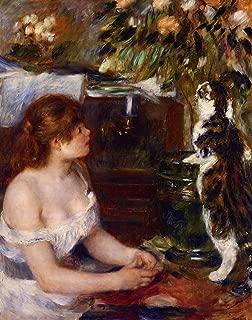 renoir girl with cat