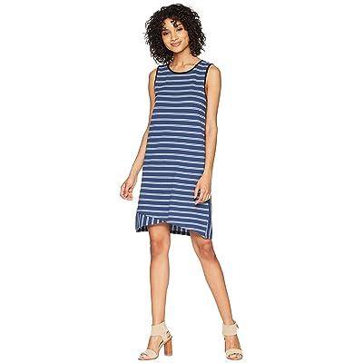 Lilla P Crossed Hem Dress (Ink Stripe) Women