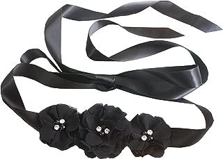 Bridesmaid and Flowergirls sashes wedding sash pearls flowers belts