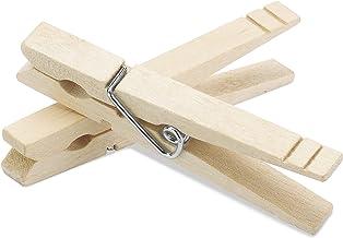 Whitmor Heavy-Duty Natural Wood Clothespins, 100 pins