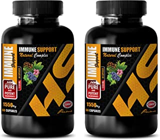 Immune System Supplement - Immune Support Formula - Natural Herbs and Vitamins - Extreme ANTIOXIDANTS - Green Tea Extract Appetite suppressant - 2 Bottle (120 Capsules)