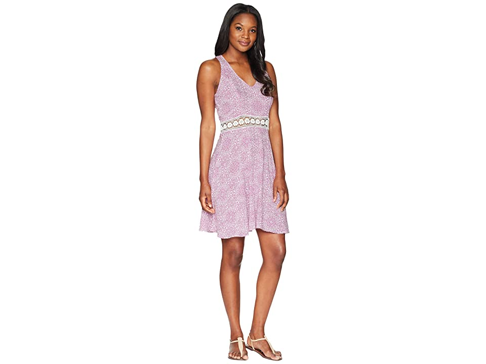 Roper 1599 Lace Printed Rayon Tank Dress (Purple) Women