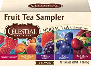 Celestial Seasonings Herbal Tea, Fruit Tea Sampler, 18 Count