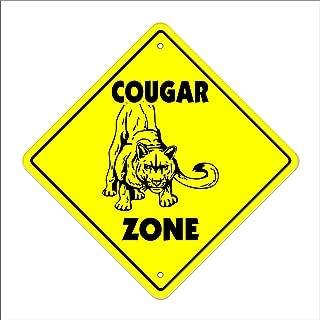 Cougar Crossing Sign Zone Xing | Indoor/Outdoor | 12