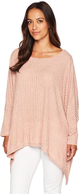Ribbed Poncho Top