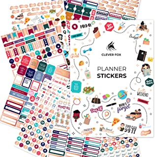 Clever Fox Planner Stickers – Monthly, Weekly & Daily Planner Stickers 14 Sheets Set of 1360+ Unique Stickers by Clever Fo...