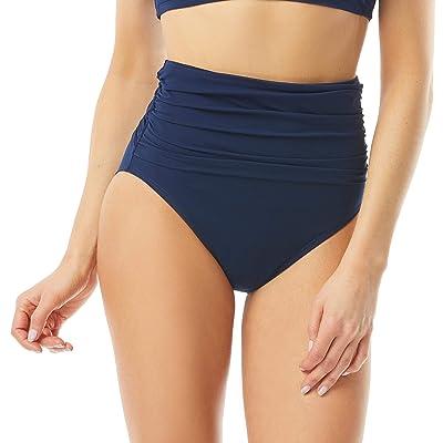 Carmen Marc Valvo March De Solids High-Waisted Bikini Bottoms