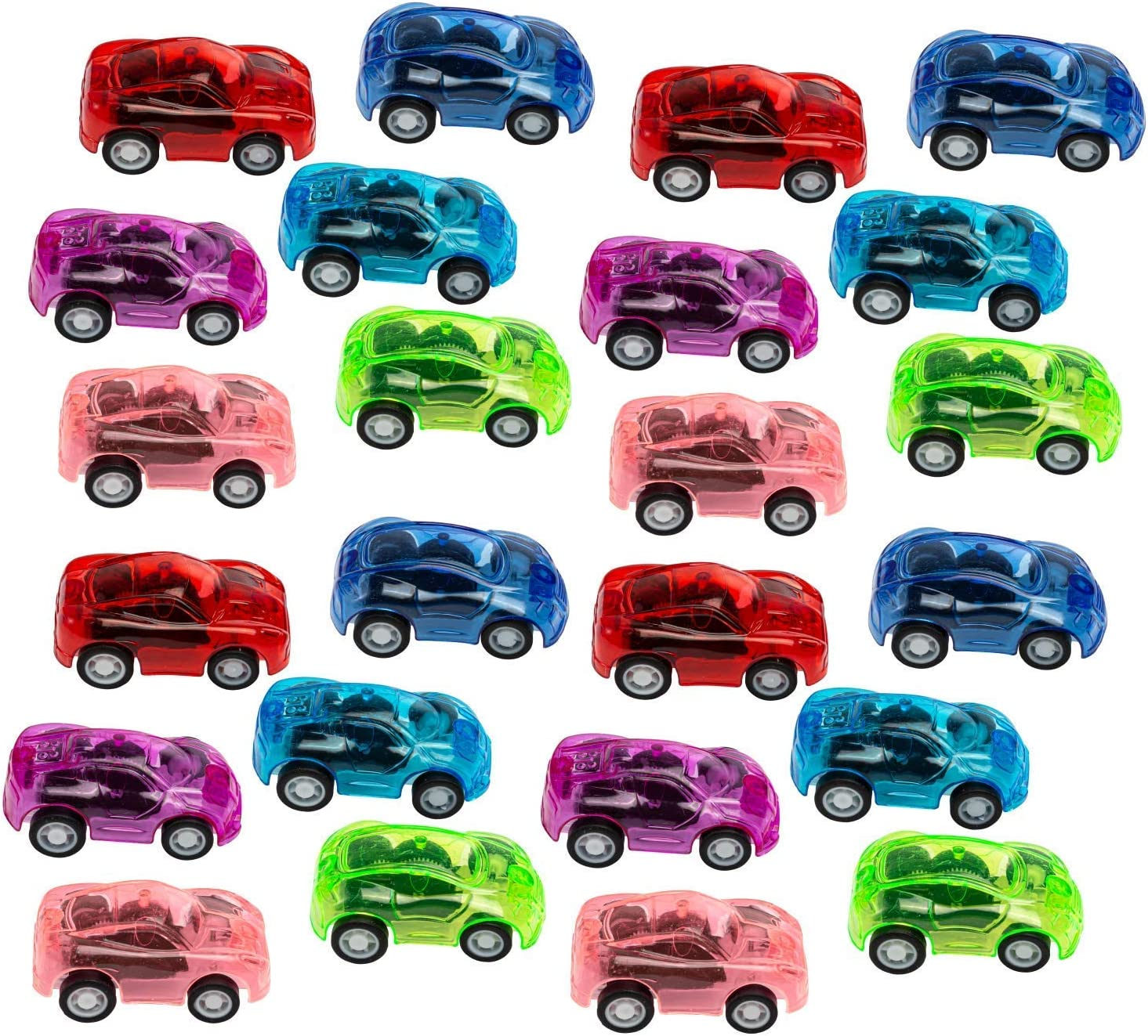 Dazzling Toys Pull Back Cars Mini Friction Toy Cars For Boys & Girls | Assorted Colorful Pullback Vehicles Are Great Birthday Party Favors, Goodie Bag Fillers, Reward, Carnival & Contest Prizes (24 Pack)