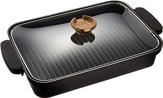 アイリスオーヤマ グリルパン ブラック 30cm ワイドサイズ 2.9L 37.2×22.3×6cm スキレットコート IH対応 SKL-G
