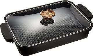 アイリスオーヤマ グリルパン ブラック 37.2×22.3×6cm スキレットコート IH対応 SKL-G