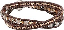 Chan Luu - Botswana Agate Mix Double Wrap Bracelet