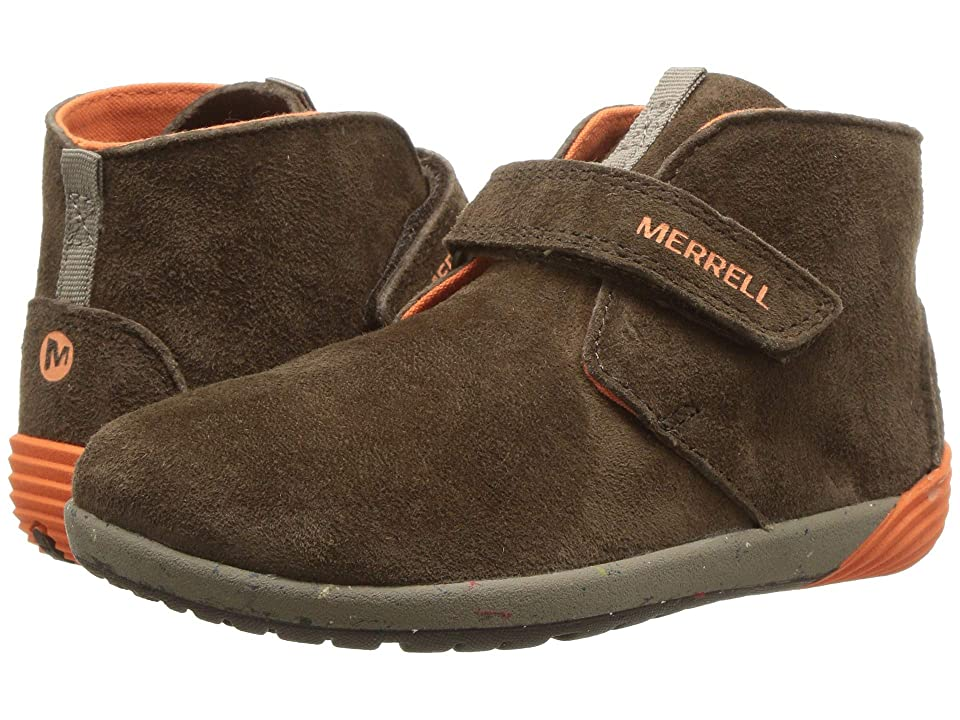 Merrell Kids Bare Steps Boot (Toddler) (Brown) Boys Shoes