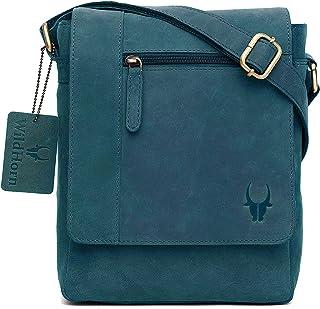 WILDHORN® Leather 8.5 inch Sling Messenger Bag for Men I Multipurpose Crossbody Bag I Travel Bag with Adjustable Strap I I...