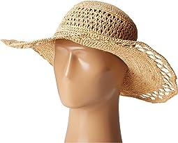 RHL3085 Crochet Raffia Sun Brim Hat