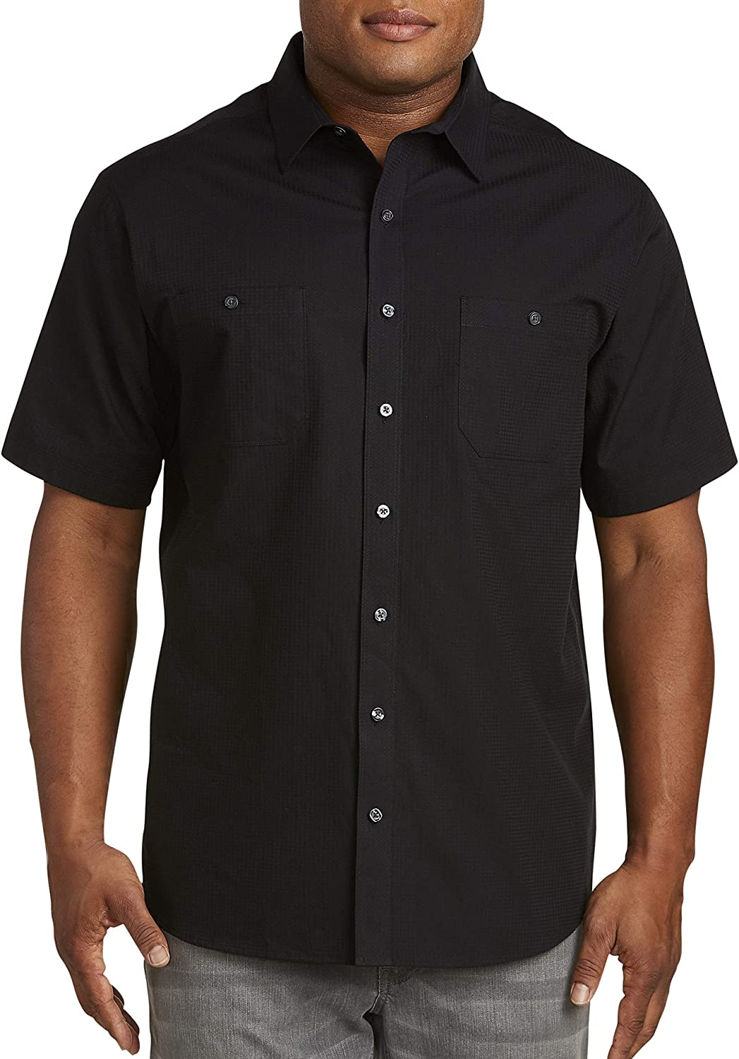 Synrgy by DXL Big and Tall Textured Solid Sport Shirts
