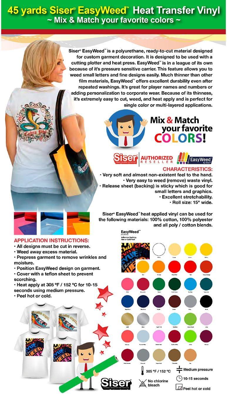 Max 55% OFF GERCUTTER Store Under blast sales - 45 Yards Siser Heat M Vinyl EasyWeed Transfer