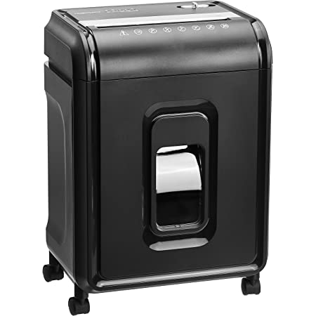Amazon Basics 12-Sheet High-Security Micro-Cut Paper, CD, and Credit Card Shredder with Pullout Basket