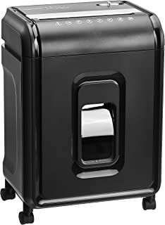 AmazonBasics 12-Sheet High-Security Micro-Cut Paper, CD, and Credit Card Shredder with Pullout Basket