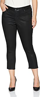 Women's Plus Size Gayle Coated Cropped Side Vent Skinny