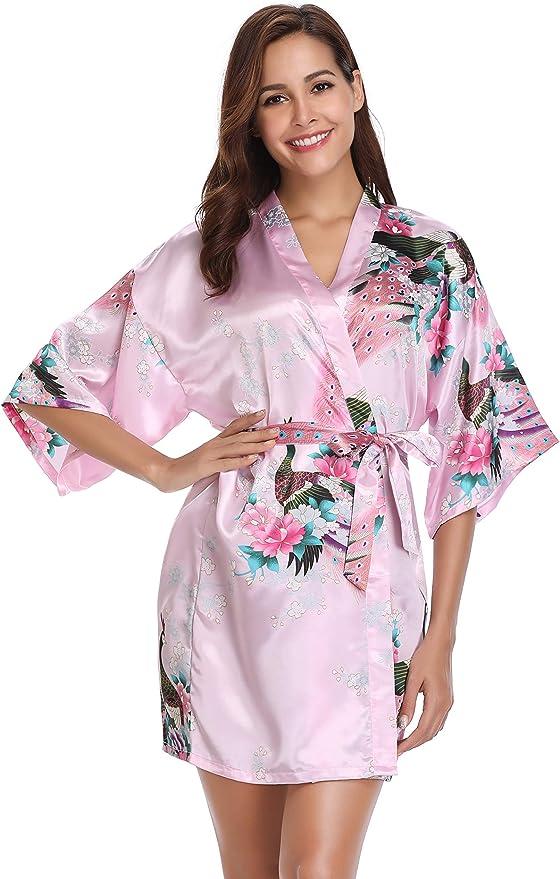 1148 opinioni per Vlazom Accappatoi e Vestaglie da Donna Elegante, Kimono Donna/Camicie da Notte