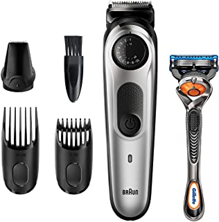 Braun Recortadora de Barba y Cortapelos BT5260, Máquina Cortar Pelo, para Hombre, 39 Ajustes de Longitud, Color Negro y Me...