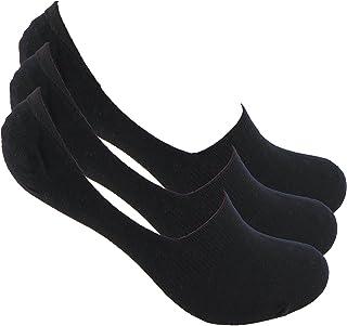 Calcetines INVISIBLES (3 pares.) SIN COSTURAS PINKI. Con silicona en talón y goma antipresión que mantienen sujeto el calcetín al pie y no se caen. Efecto invisibles. 78% Alg.