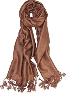 Sparkling Metallic Pashmina Shawl Wrap Scarf for Wedding Evening Dress