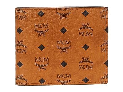 MCM Visetos Original Flap Wallet/Two-Fold Small (Cognac 1) Bags