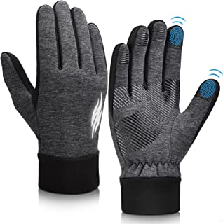 Sponsored Ad - Winter Warm Running Cycling Gloves - Cold Weather Ski Thermal Sports Bike Black Mittens for Man Woman
