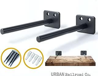 Solid Steel Floating Shelf Brackets - 6