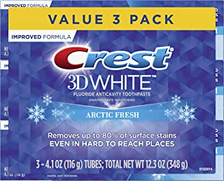Crest 3D White Whitening Arctic Fresh Toothpaste, 4.1 oz, 3 Count