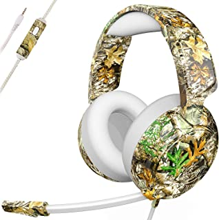Headphone Foldable Over Ear Headphones Surround Sound Wired Headset Support TF Card, FM Radio, Hands-Free Calling for Cell Phone, PC, Moto, PSP