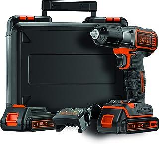 Black+Decker Autosense 1,5 Ah Li-Ion batteriborr (18 V, automatisk vridmomentförval, batteriindikering, LED-lampa, greppgu...