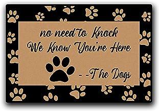 Funny Doormat No Need to Knock We Know You're Here Entrance Mat Floor Rug Indoor/Outdoor/Front Door Mats Home Decor Machin...