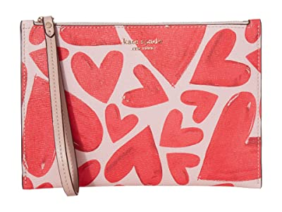 Kate Spade New York Spencer Ever Fallen Small Wristlet (Tutu Pink) Handbags