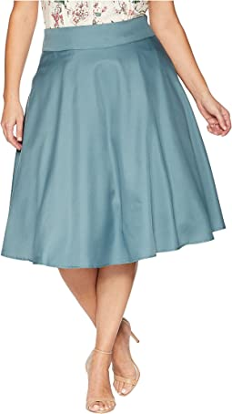 Plus Size High-Waist Vivien Swing Skirt